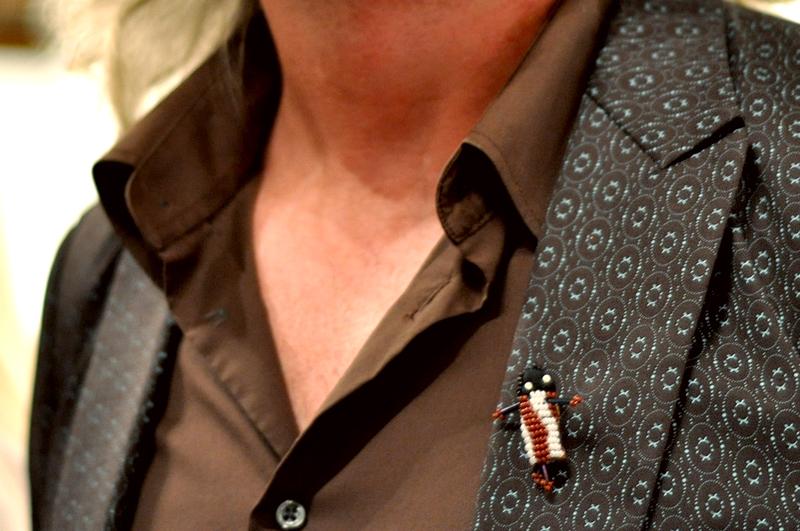 beaded pin