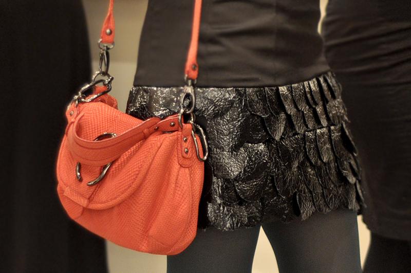 Leather Petal skirt